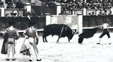 Papa Negro estocada recibiendo 1910 001