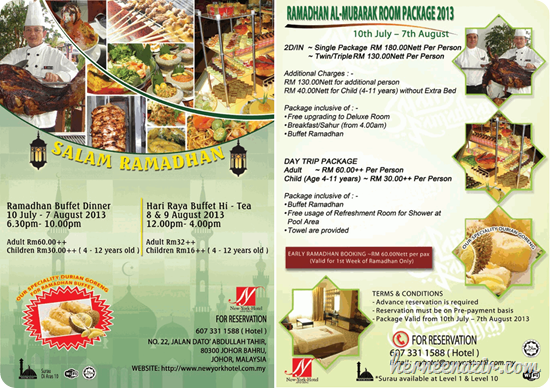 Ramadhan Buffet New York Hotel