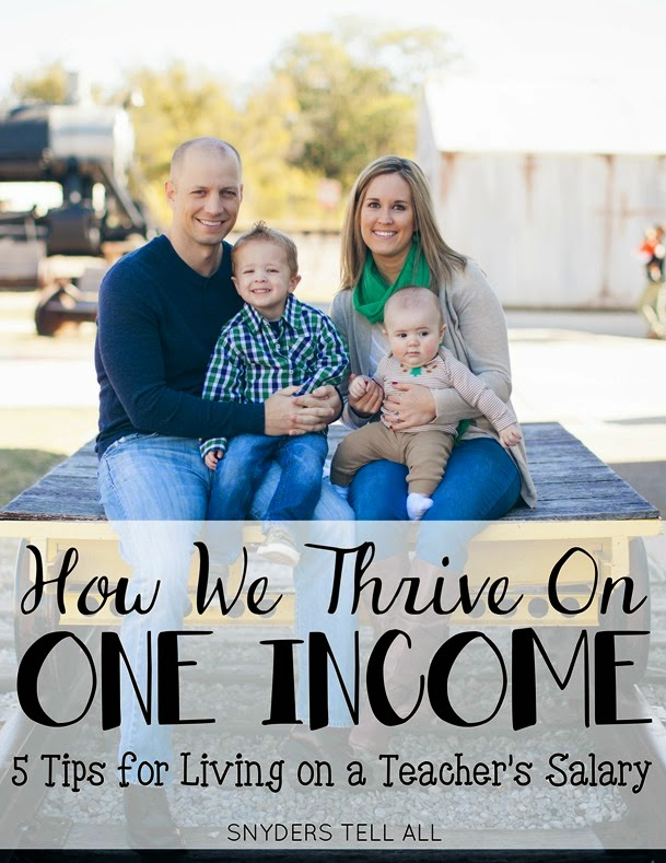 How We thrive on one income 5 tips