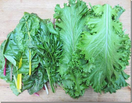 Chard, parsley, and mustard