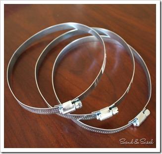 металлические зажимы кольца трубы