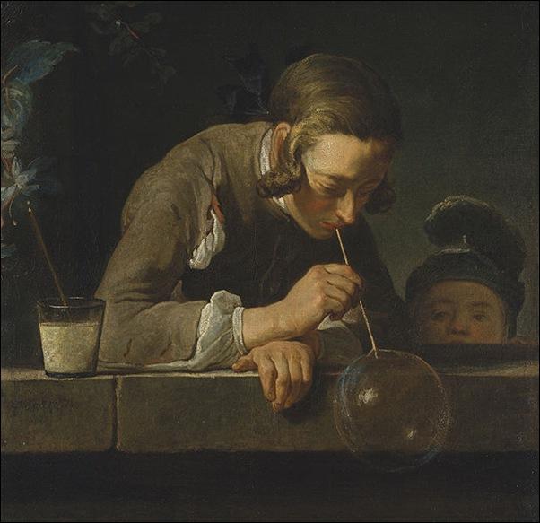 Chardin, L'hommme aux bulles de savon