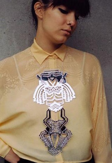 Mirror Temple Oversized Necklace, £55, Finchittidafinch