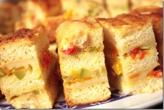 Terrina di pane e verdure