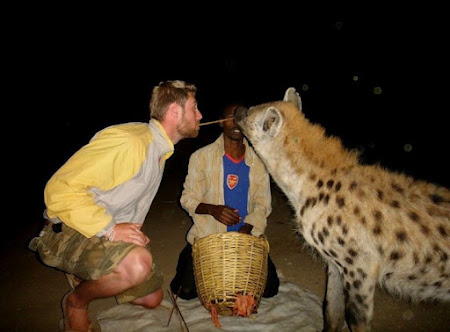 Johnny and a hyena.jpg