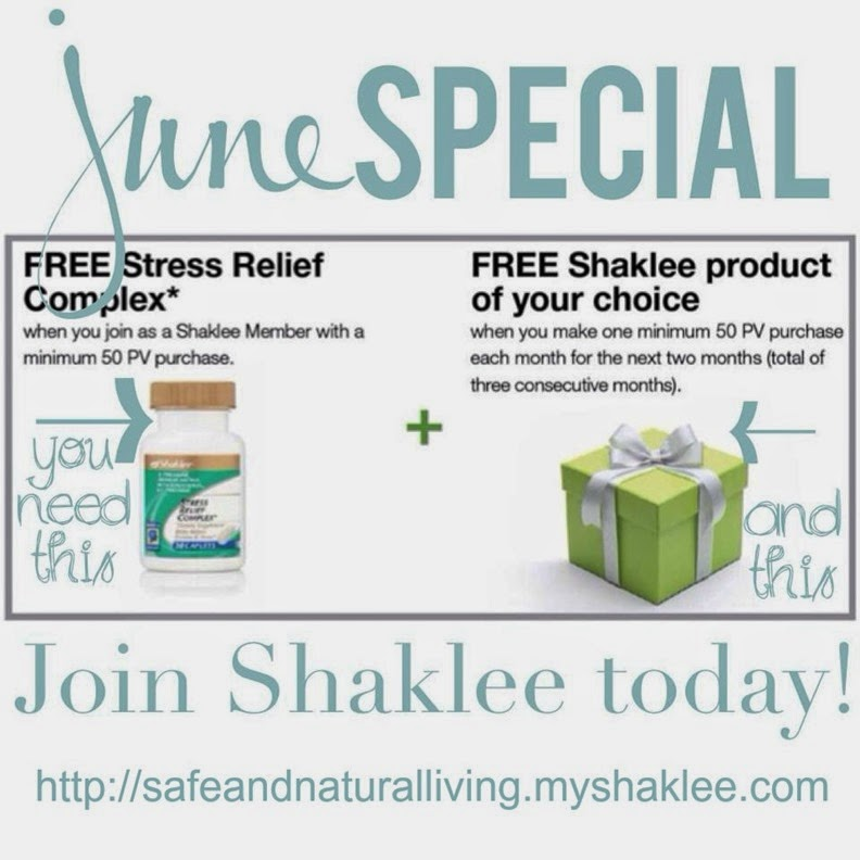 shaklee june special stress relief