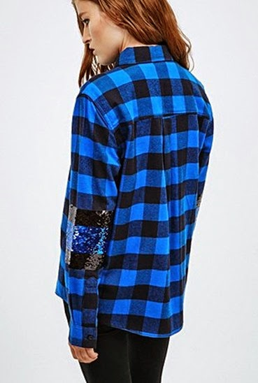 Urban-Outfitters-Lee-sequin-blue-black-plaid-shirt