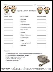 Math Recipe Worksheets - Educational Math Activities