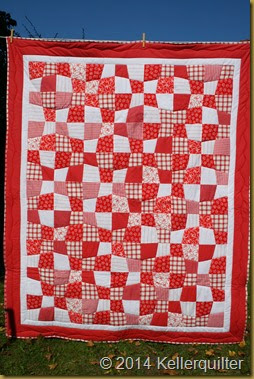 Quilt144-Rot-Weiß