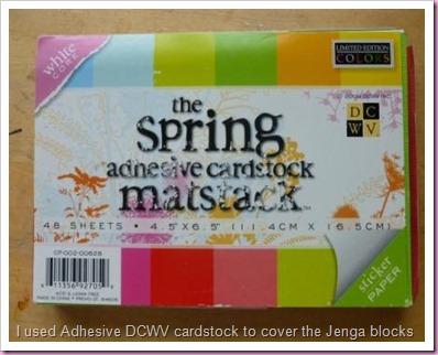 DCWV Adhesive cardstock