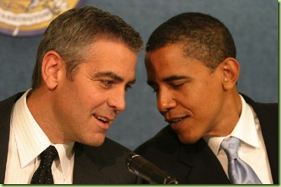 clooney-POTUS-Bo too close for comfort