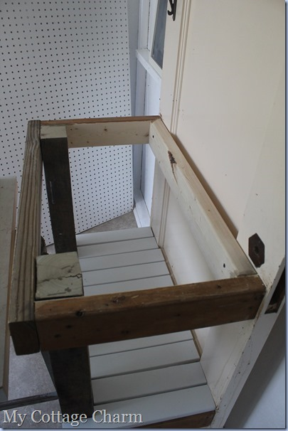 building a potting bench cheap