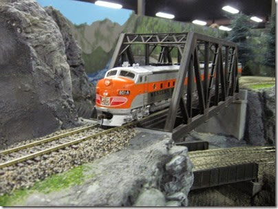 IMG_5472 Western Pacific F3A #801A on the LK&R HO-Scale Layout at the WGH Show in Portland, OR on February 17, 2007