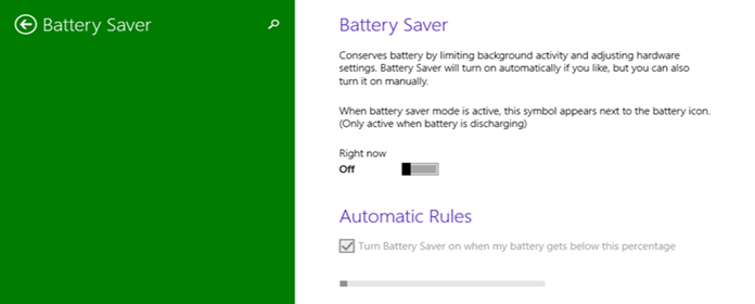 Battery Saver (Mode=OFF) in Windows 10 PC Settings (www.kunal-chowdhury.com)