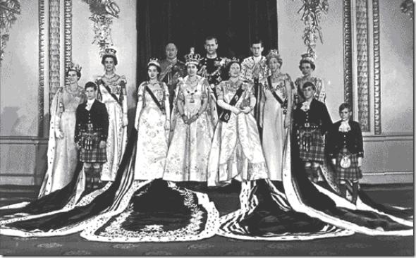 familia reeal na coroação
