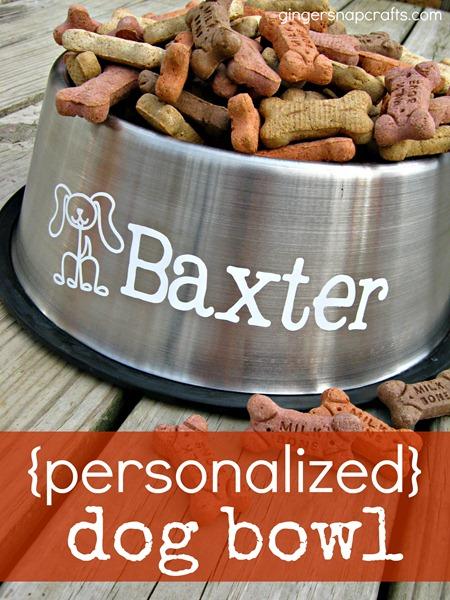 dog personalized bowl