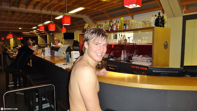 at the bar in Seefeld, Tirol, Austria