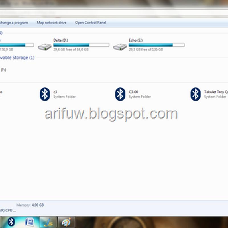 Cara mengubah Windows Explorer seperti browser ada Tab nya