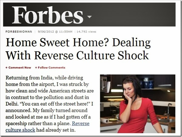 Forbes Dealing with Reverse Culture Shock
