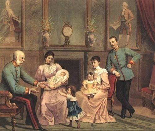 Los Emperadores de Austria y sus hijos