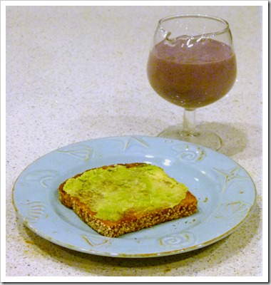 shake avocado toast