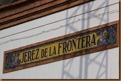Jerez station sign