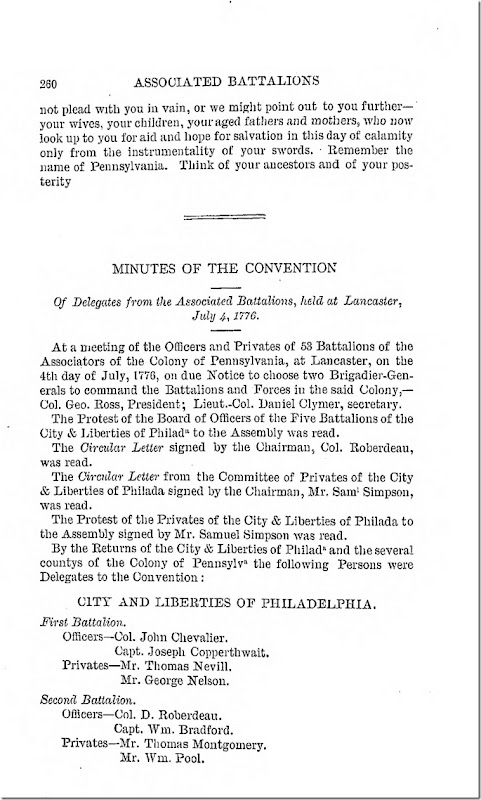 Pennsylvania Archives Series 2 Volume 13 Documents Relating to the Associations and Militia in General Page 260