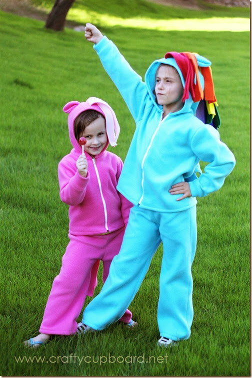 Rainbow Dash and Pinkie Pie Costumes