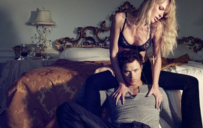 Kellan Lutz + Anne Vyalitsyna by Yu Tsai for Dylan George F/W 2011