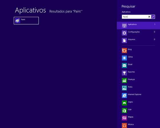 Pesquisando no Windows 8
