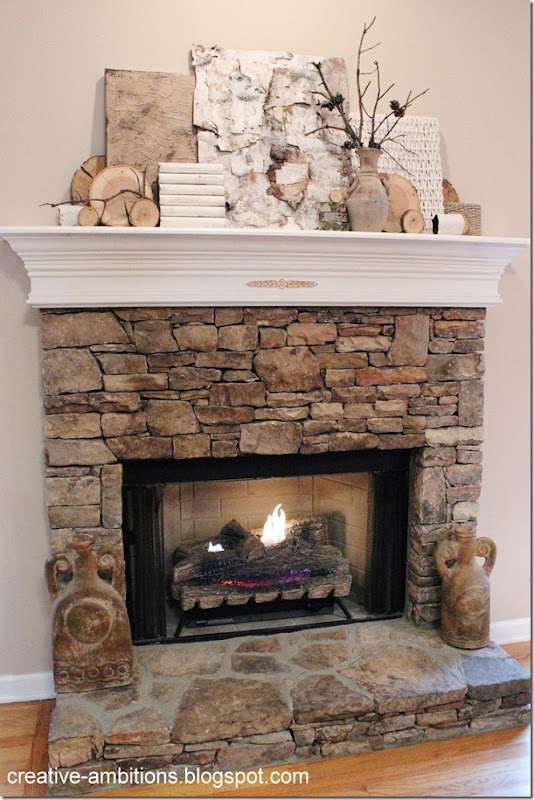 Natural Rustic Winter Mantel Agl