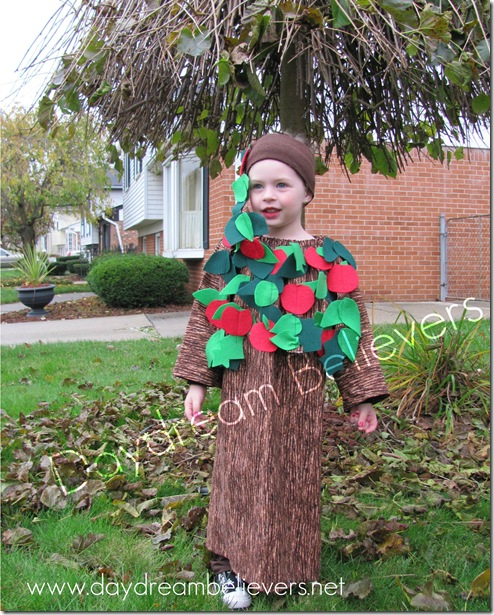 handmade apple tree halloween costume