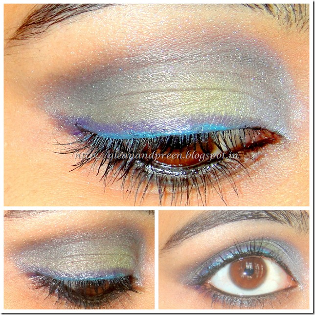 Blue Green Purple Eye Makeup
