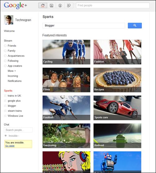 Sparks in Google