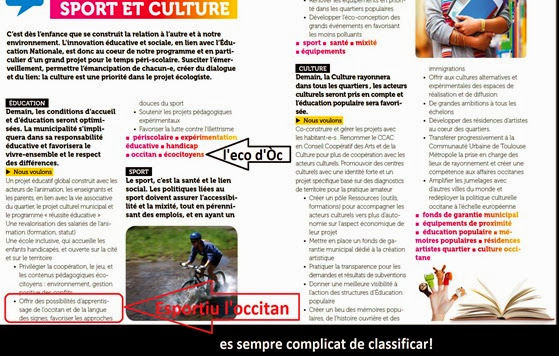 occitan e EELV Tolosa campanha 2014