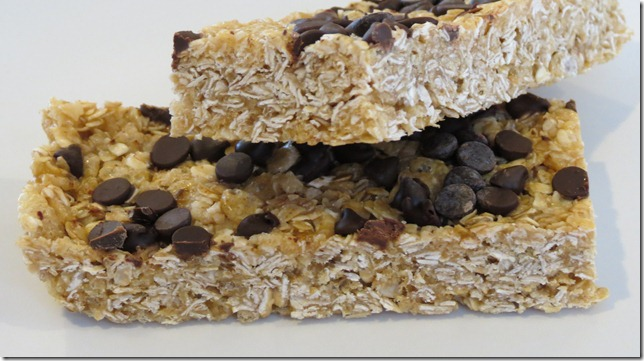 No Bake Chewy Chocolate Chip Granola Bars 3