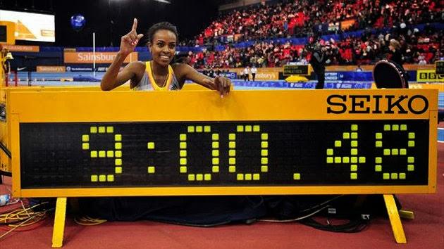 Третий мировой рекорд Гензебе Дибаба