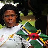 Superguide Rosalind Describes the Dominica Flag - Roseau, Dominica