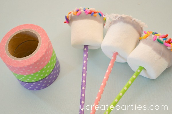 diy washi tape treat pops