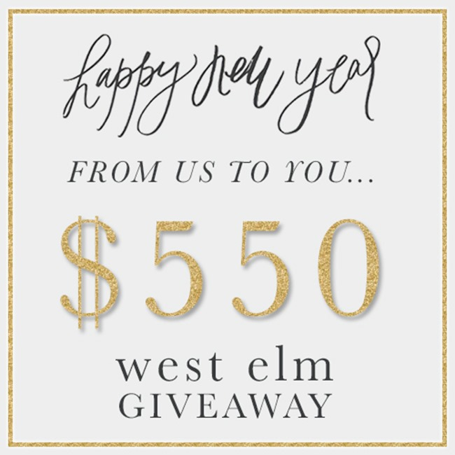 west elm instagram giveaway