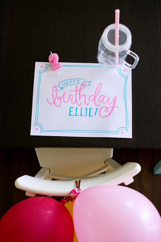 birthday traditions, birthday placemat, birthday table, two year old birthday