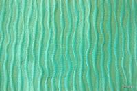 Ekskluzywna tkanina marszczona o bogatej teksturze. Na zasłony, poduszki, narzuty, dekoracje. Niebieska, błękitna.