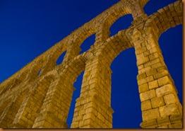 Segovia, aqueduct, evening sky