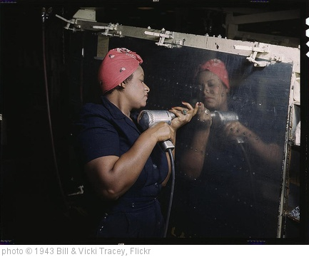 'Woman working on a bomber' photo (c) 1943, Bill & Vicki Tracey - license: http://creativecommons.org/licenses/by/2.0/