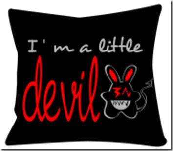 coussin design devil