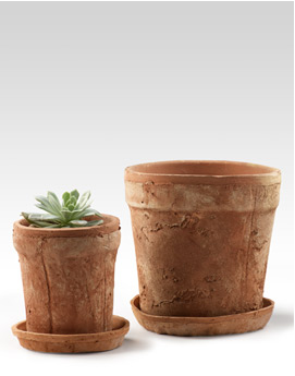 I like that these terra cotta pots are unrefined. It makes them look more authentic and rustic. (jamaligarden.com)
