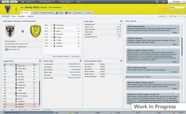 Jangkaan tentang Football Manager 2012