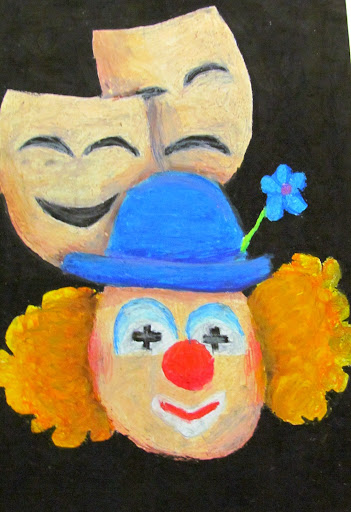 маски и клоун.JPG