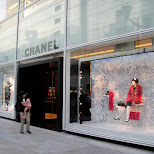 chanel on the main shopping street in ginza tokyo in Tokyo, Tokyo, Japan