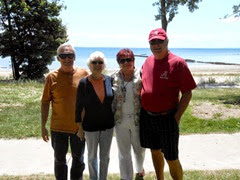 1407253 July 24 Bill Ann Barb Terry In Front Of Lake Erie